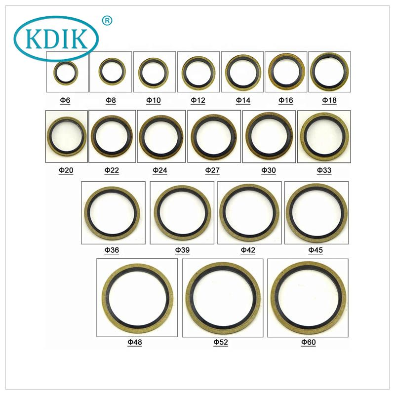 China Supplier Rubber Combined Gaskets Bonded Seal for Flanged Joints Compound Gasket